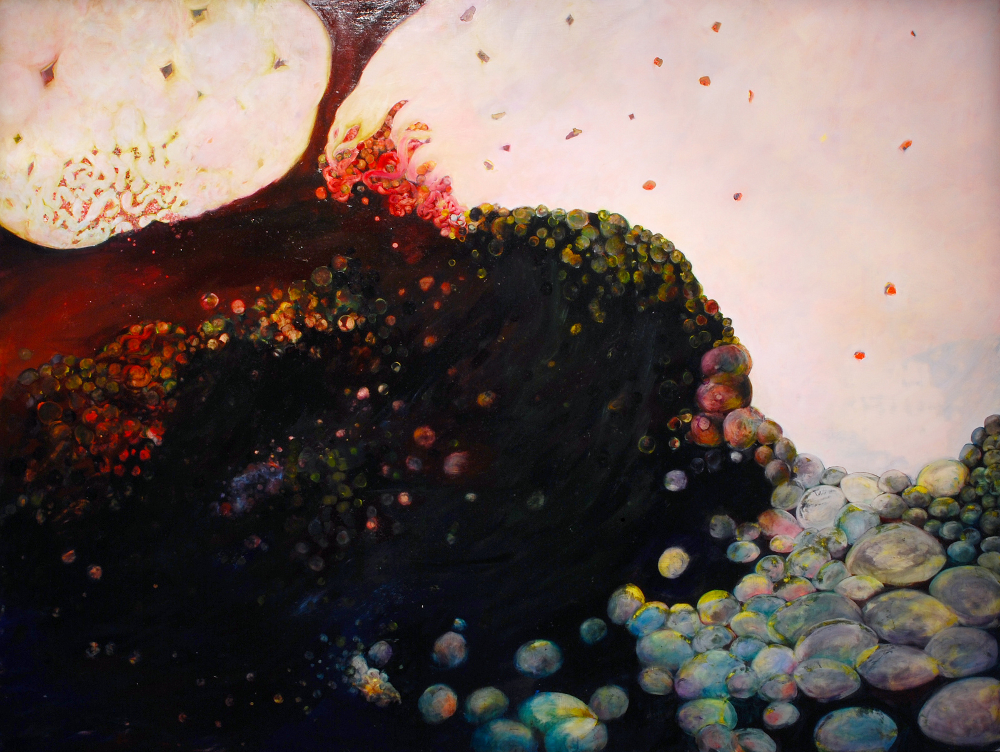 "The Oracle, 2008, oil on panel, 72"" x 86"""