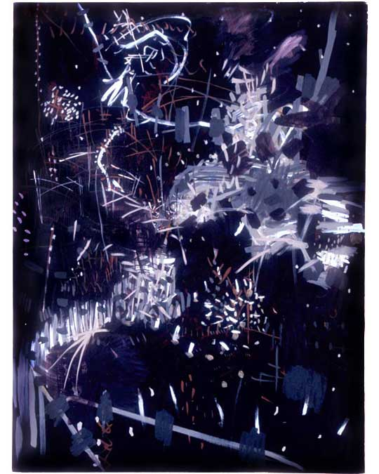 "Untitled (3), 2005, oil and acrylic on canvas, 48"" x 36"""