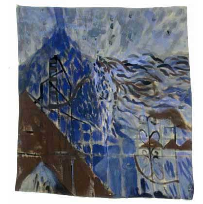 "Blue Mountain, 2004, acrylic on canvas, 18-1/2"" x 17"""