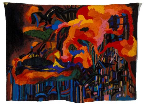 """Cityscape II, 2003, acrylic on linen, 20"""" x 26"""""""