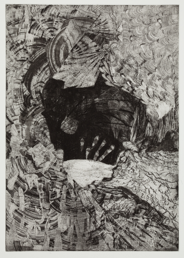"Belly of the Beast, 2010, etching, edition of 12, 17-1/2"" x 13-1/2"" (paper size)"