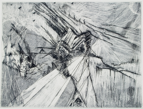 "Untitled (2), 2007, etching edition of 10, 15"" x 11"" (paper size)"