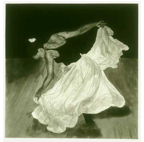 African Dance, 2001, etching