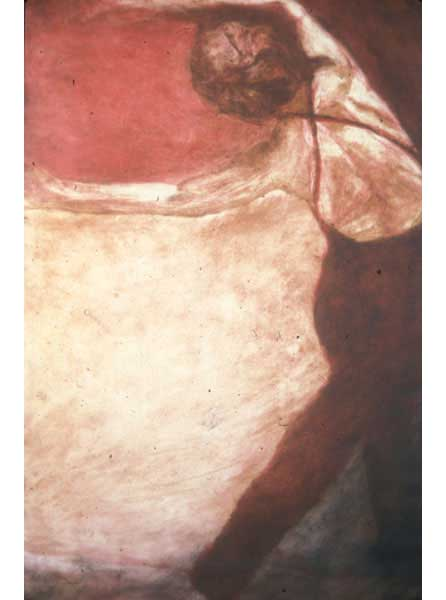 "Untitled (dancer 5), 1999, monotype, 40"" x 24"""