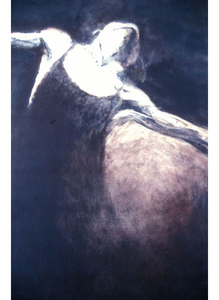 "Untitled (dancer 6), 1999, monotype, 40"" x 24"""