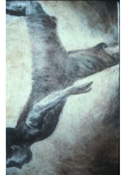 "Untitled (dancer 1), 1999, monotype, 40"" x 24"""