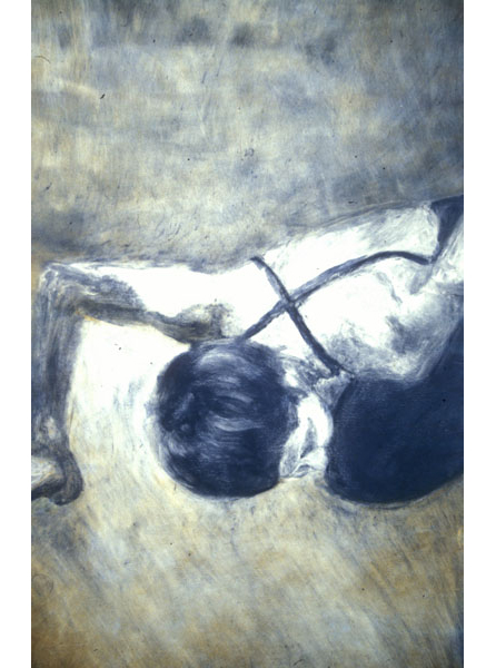 "Untitled (dancer 7), 1999, monotype, 40"" x 24"""