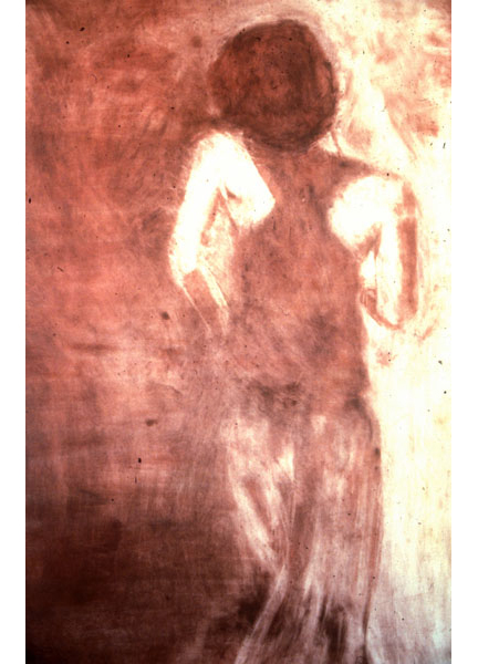 "Untitled (dancer 8), 1999, monotype, 40"" x 24"""