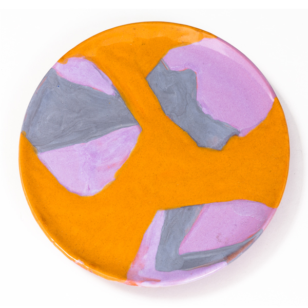 "The Open Air, 2013, ceramic plate, 7"" diameter"