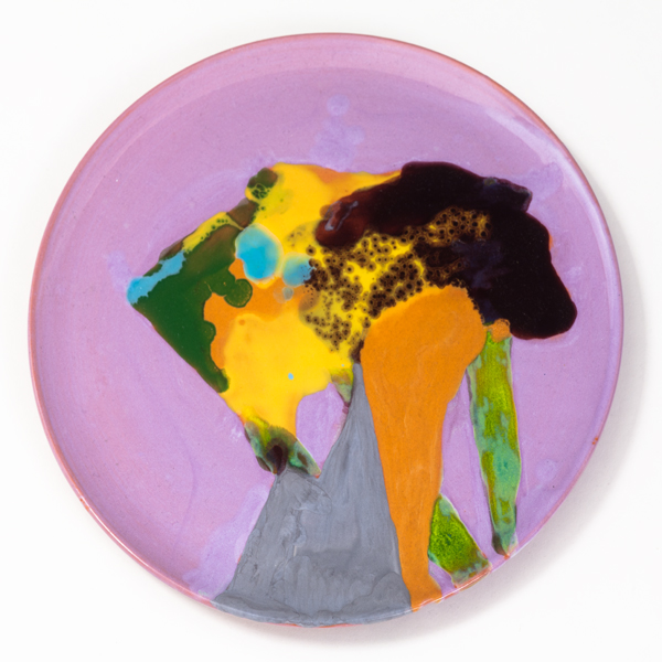 "The Banquet, 2013, ceramic plate, 9.5"" diameter"
