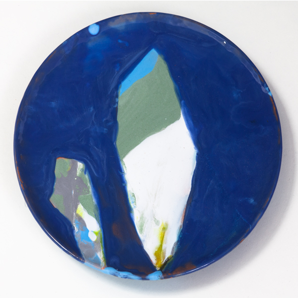 "The Encounter, 2013, ceramic plate, 7"" diameter"