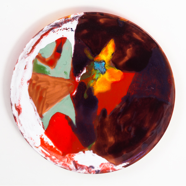 "Mysteries of the Horizon, 2013, 2013, ceramic plate, 9.5"" diameter"