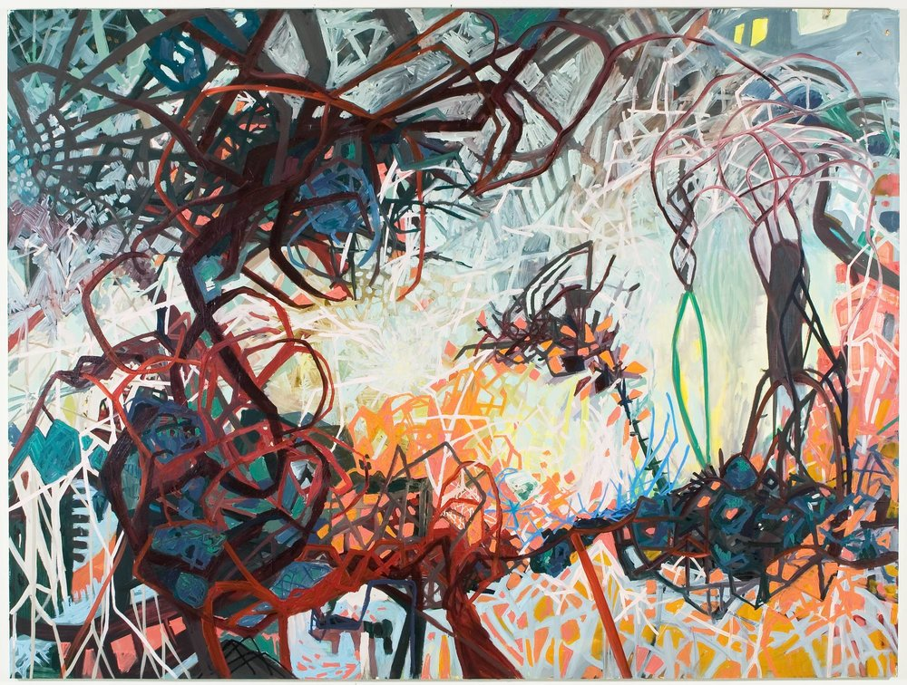 "Untitled, 2007, oil and acrylic on panel, 72"" x 96"""