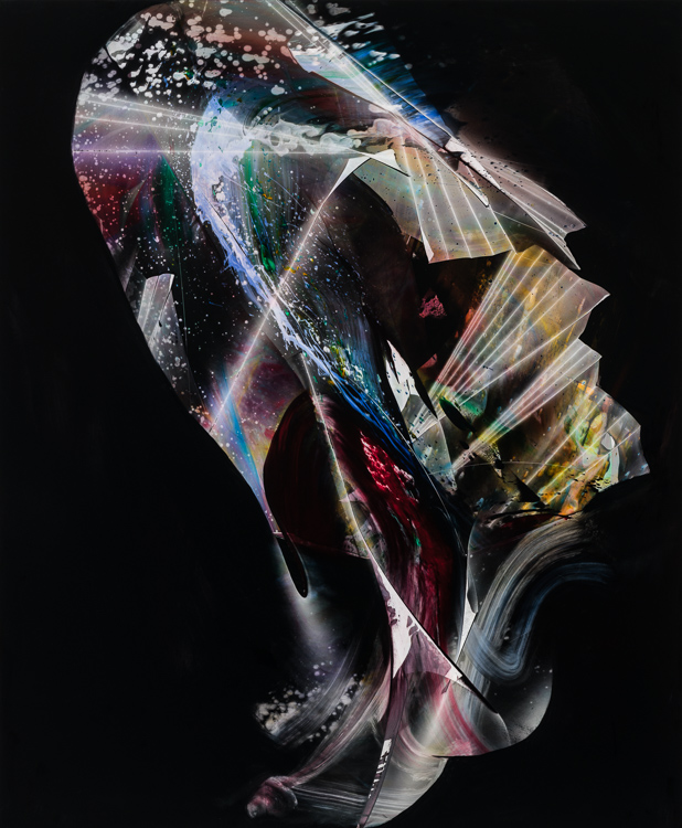 "The Light Fantastic, 2018, oil on panel, 34"" x 28"""