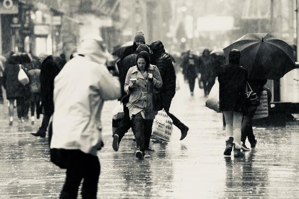 Glasgow rain.