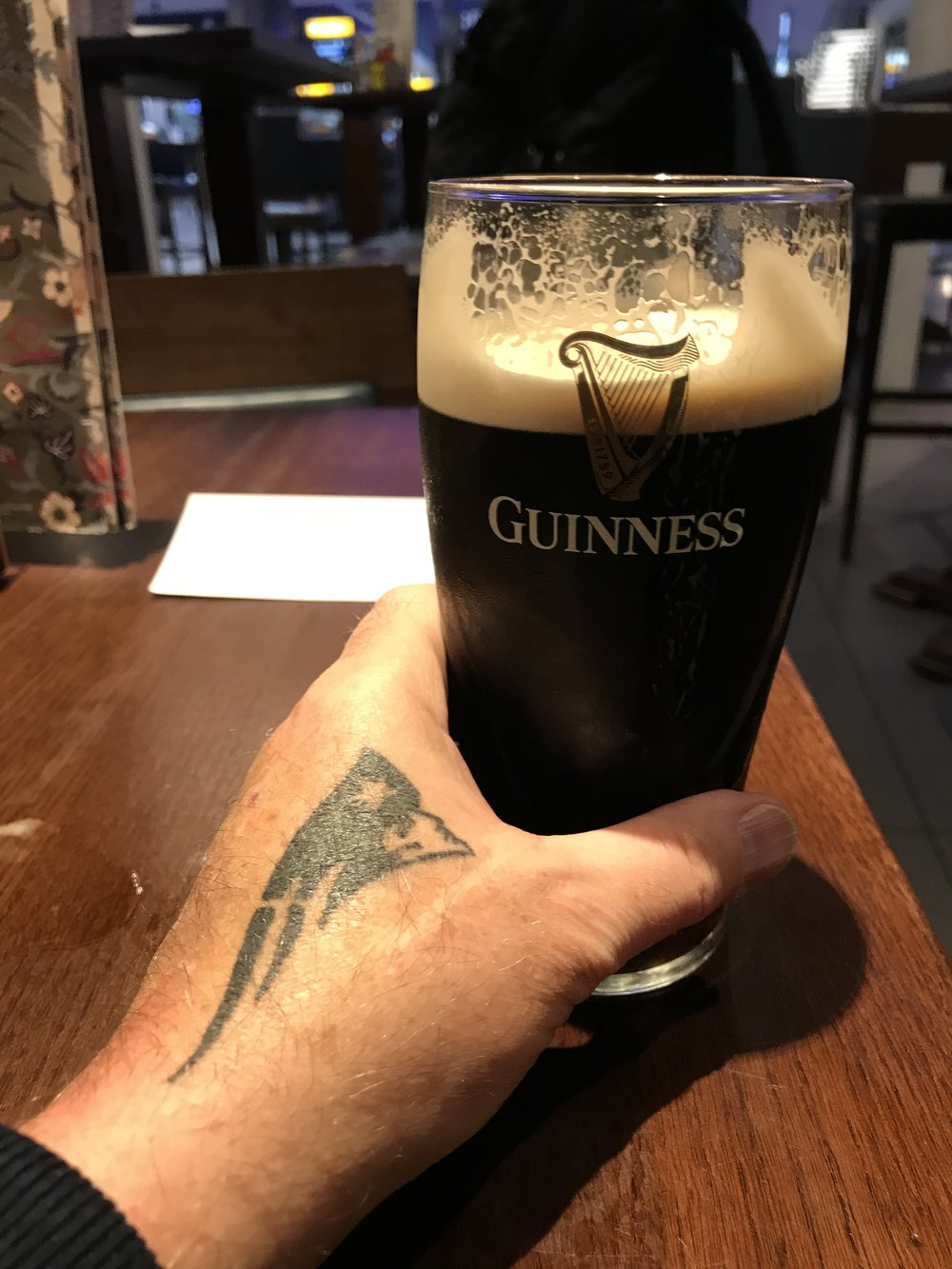 First UK pint in years...yes it's Irish, I know that...!