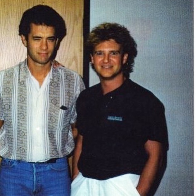 "Sometimes promo trips have their ""perks."" I met this guy in 1986 but I forget what band he was in."