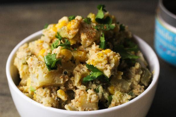 Sweet Corn Potato Salad with Spice