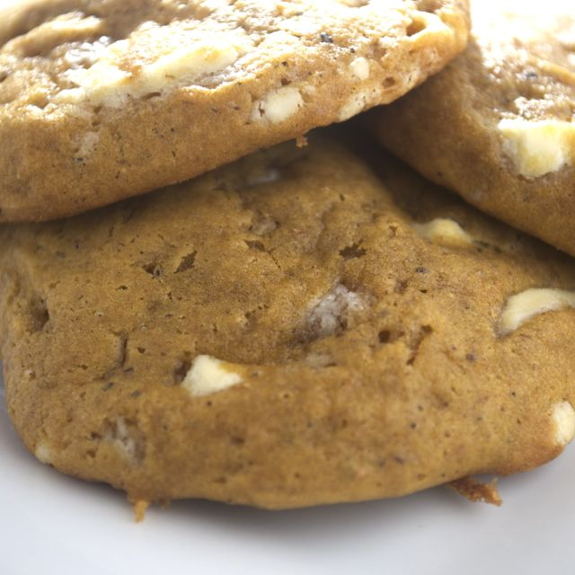 Spiced Pumpkin & White Chocolate Chip Cookies