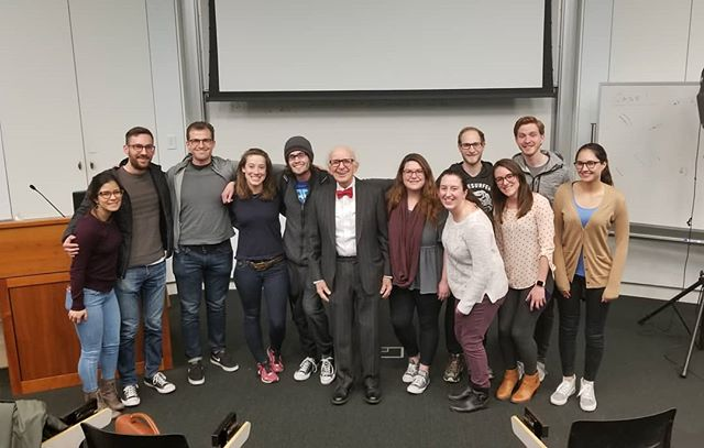 "We had an amazing time listening to Dr. Eric Kandel talk about his life and career as a neuroscientist yesterday! His advice to us at NGG? ""Enjoy yourselves!!!"""