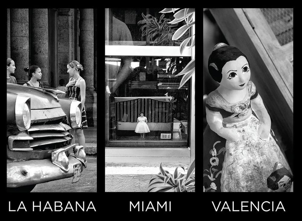 """ENTRE DOS AGUAS - La Habana, Miami y Valencia generan un viaje urbano """"Entre Dos Aguas"""" que conforman unas etapas muy significativas en la trayectoria de Flor Mayoral, expresadas todas ellas con una intencionalidad personal definida. A este conjunto armónico, se suma un dominio quirúrgico de la técnica, derivada de su carrera profesional como doctora dermatóloga, que convergen, así como en muchos referentes anteriores que han compaginado la medicina con el arte. Congrega en sus tres espacios, ciudades que tienen el mar como compañero inseparable y que el destino ha querido que su historia y sus tradiciones culturales, artísticas y sociales tengan vínculos muy estrechamente enlazados."""