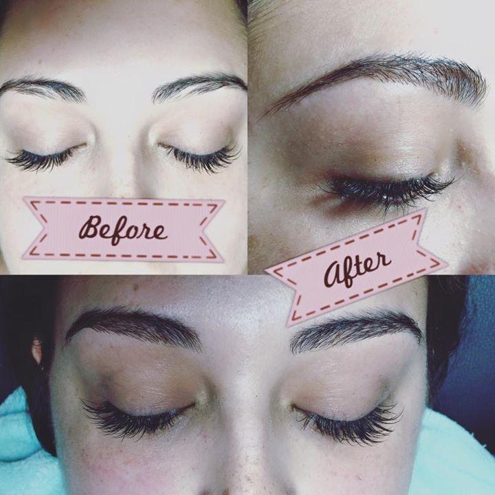 Eyebrow tinting and eyelash extension at The Lash Resort & Brow Studio, Tampa, FL