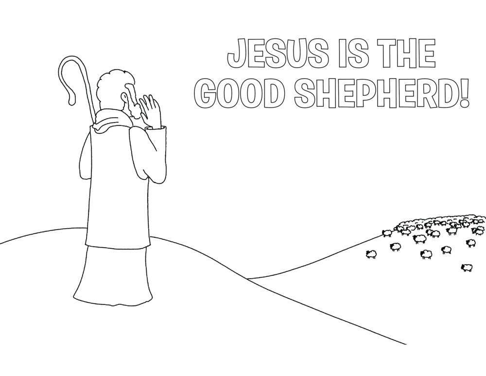 Color Me - Jesus Is the Good Shepherd! — The Ark Parent Page