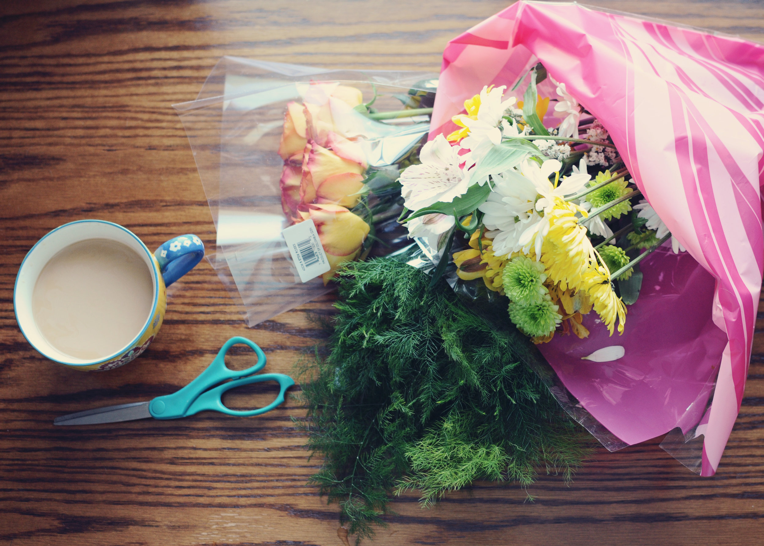 $50 Floral Arrangement with $15 Worth of Grocery Flowers