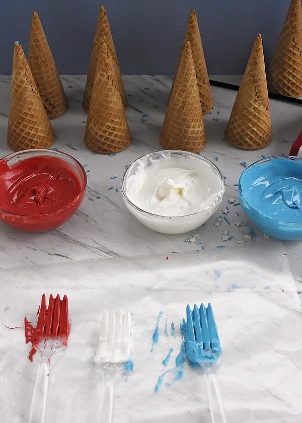 Decorated Ice Cream Cones 3rs
