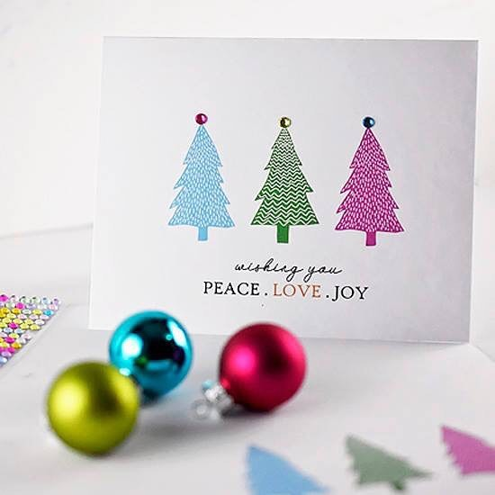 FREE printable on the blog ... quick and easy holiday card!  #printable #free #christmascard #holidaycards #abmlifeiscolorful #diychristmas