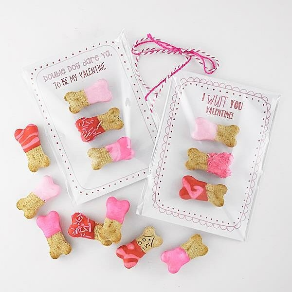 Oh the cuteness!  Confession: I don't have a dog, but have friends with dogs!  #pet #diyblogger #diy #valentinesday2019 #valentine #printables #petlife #dogbone #cute