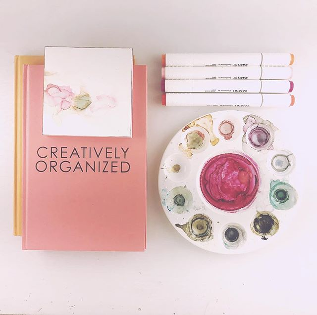 I work so chaotically in my creative process, yet it must be organized in order for me to start.  #organization #creativeprocess #create #abstractart #makersgonnamake #prettyinpink