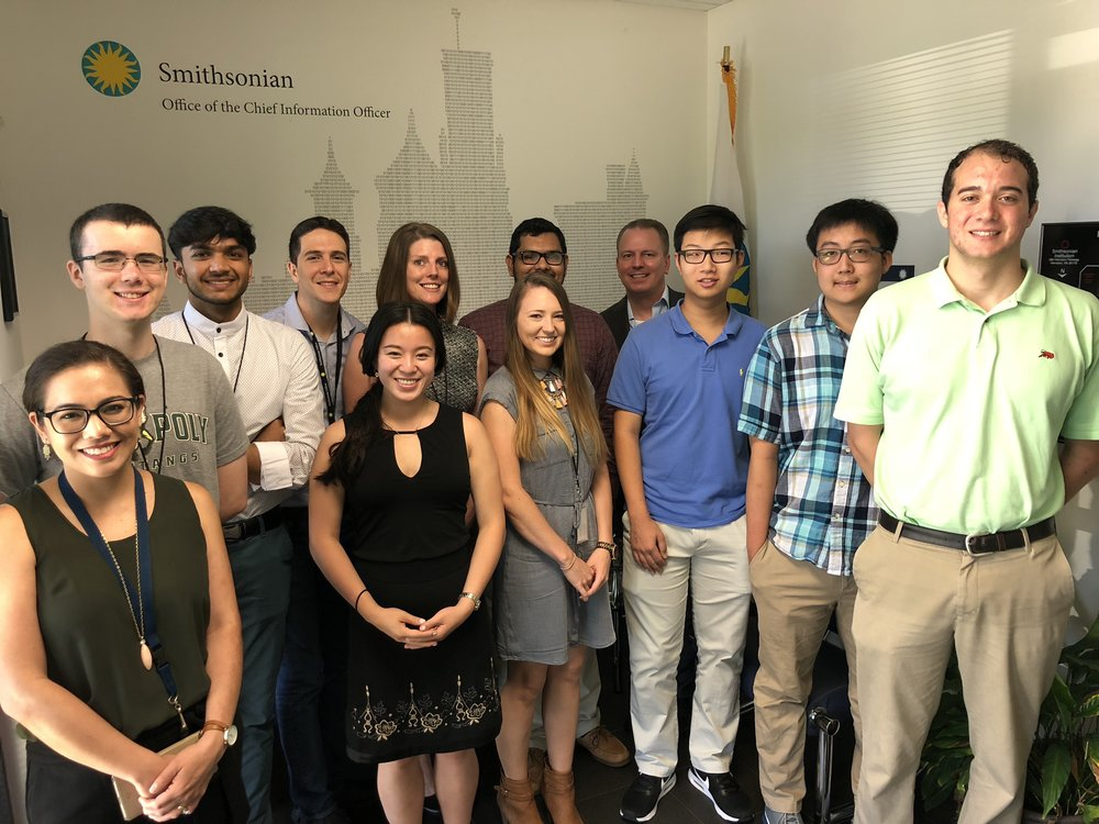 OCIO - DPO Summer Interns - At Smithsonian Herndon Data Center with Devon Burba