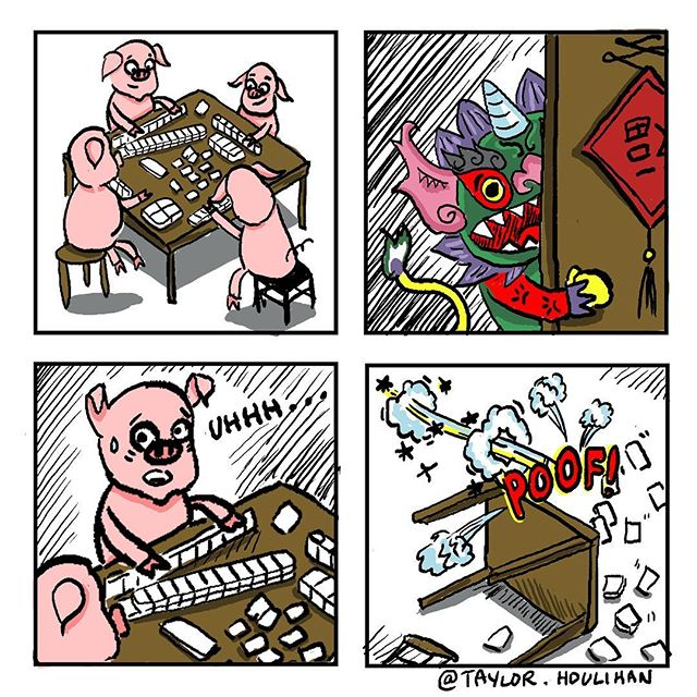 Happy Chinese New Year! 🐷🐲 恭喜发财!Here is one of the comics I made for the #theparkcenter #chinesenewyear #yearofthepig #yearofthepig2019 #comics