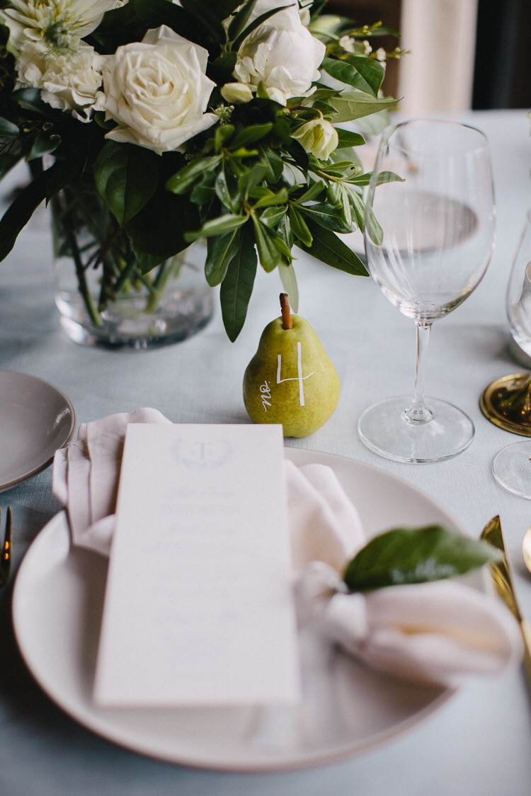 wedding-inspiration-calligraphy-pear-table-number-chic-style-me-pretty.JPG