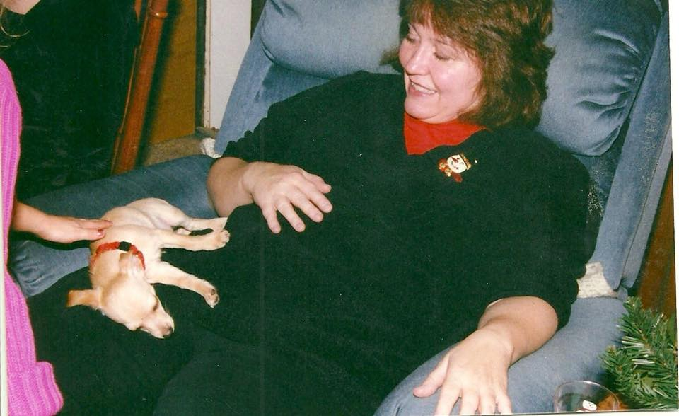 Christmas 2002, with his surrogate Mama, Aunt Judy
