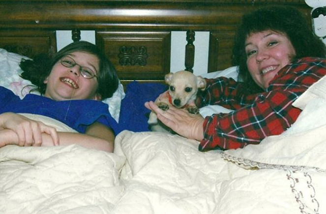 Aunt Judy, Bruiser, and I – Christmas Eve 2002