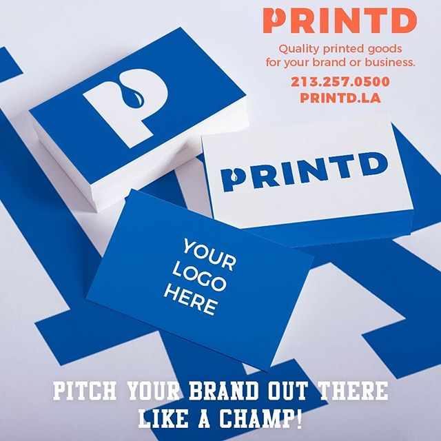 Champion quality business cards. Starting at $50 for 1000pcs. + design fees if applicable. Hit us up for more details - hello@printd.co / 213.257.0500. . . . #Printd #GetPrintd #madeinlosangeles #printing #apparel #clothing #design #logo #branding #customapparel #screenprinting #offsetprint #businesscard #postcard #brochure #largeformat #letterpress #dodgers #letsgododgers #nlcs #dodgerswin #welovela #ladodgers #pantone294 #la