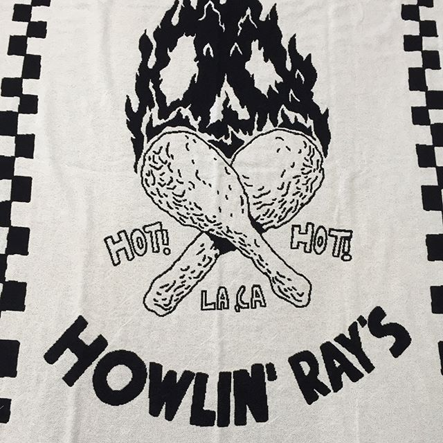 "Custom Woven Throw Blankets for @howlinrays 2-color loom design 50""x70"" #madeintheusa #customorder #bulkproduction #lowminimums #coldandhungry"
