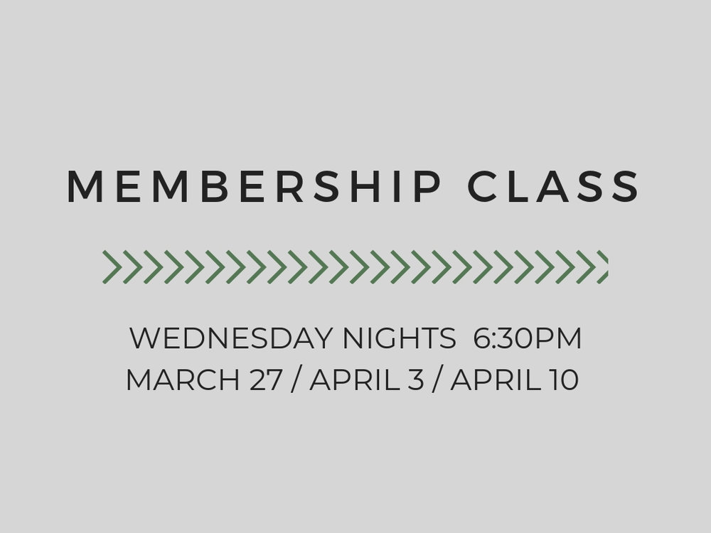 MEMBERSHIP CLASS  MARCH 27TH / APRIL 3RD / APRIL10TH  LOCATION: LIFE ASSEMBLY  DETAILS: ATTEND ALL THREE TO TAKE THE NEXT STEP IN BECOMING A MEMBER AND KNOWING MORE ABOUT LA