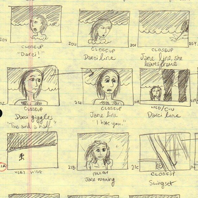 """#tbt storyboards circa 2011 from our first film, """"Things Found on the Ground""""! How far we've come.  #thingsfoundonthegroundmovie"""
