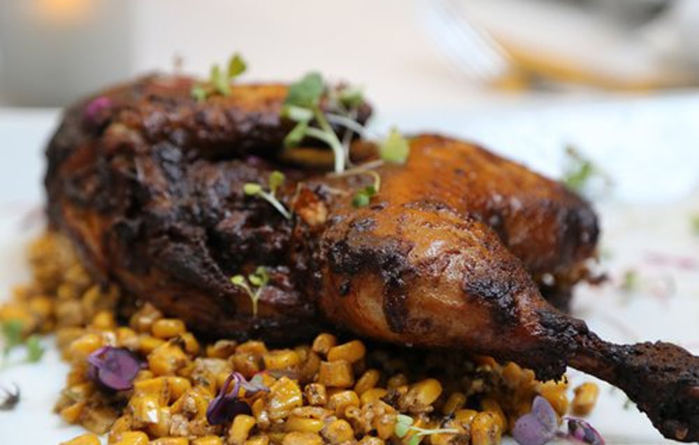 Cool Restaurant - Roasted Chicken, Spicy Lemon Corn Manouri Cheese
