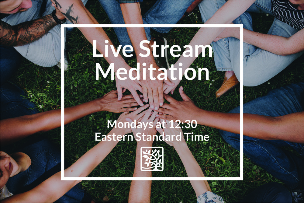 Join our Live Stream Meditation Group - Jump back into your day feeling more relaxed, present, and centered with a supportive community