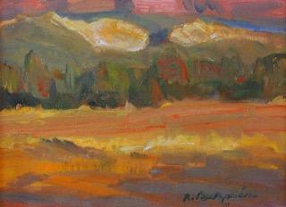"Richard Guzmán    'Sunday Afternoon'     11""x14"", oil on archival canvas panel"