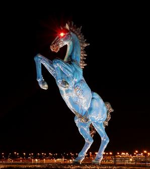 "Blue Mustang, aka ""Demon Horse"""
