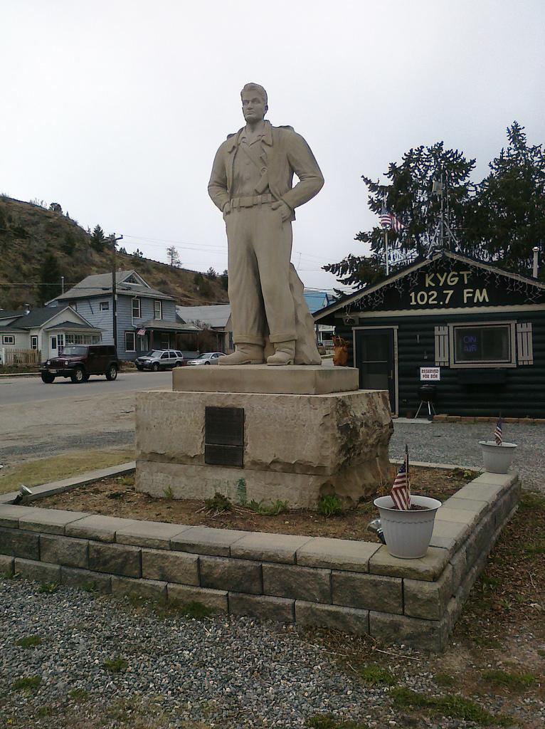 Steve Canyon Statue
