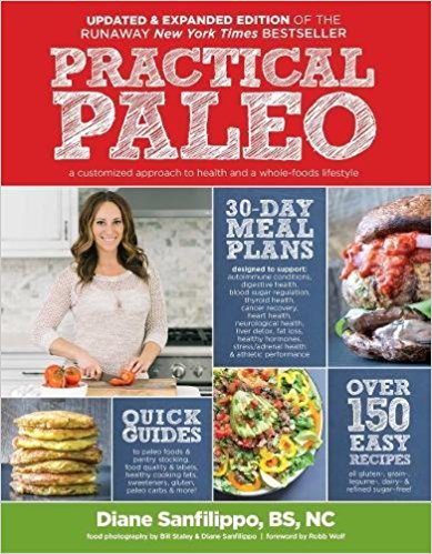 Practical Paleo by Diane Sanfilippo - This is probably the most dog-eared and stained cookbook in our kitchen. On top of having amazing real food recipes, it also is chock-full of nutritional information and 30-day meal plans for a variety of chronic conditions such as Type II Diabetes, hypothyroidism, and Irritable Bowel Disease.
