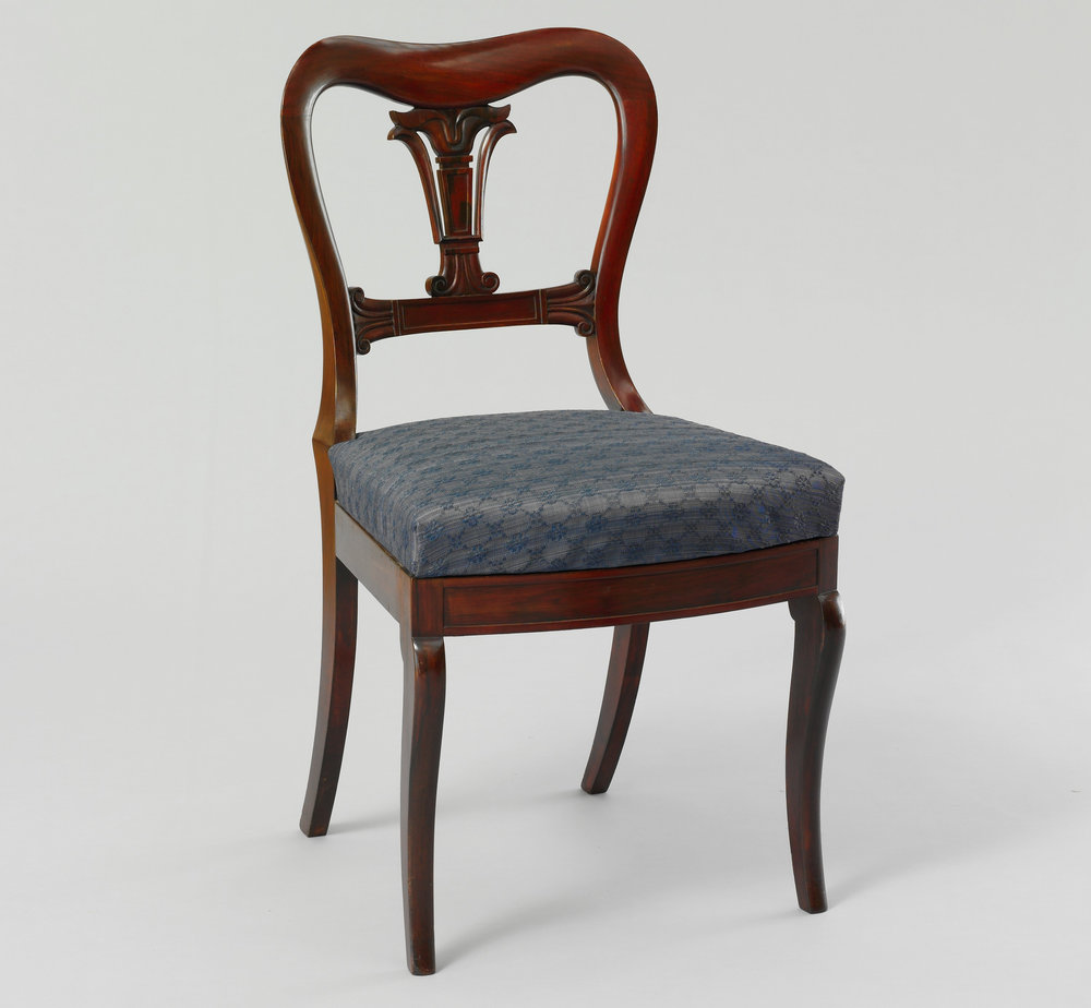 Side chair by Duncan Phyfe and Sons (1837-1840).   Metropolitan Museum of Art .