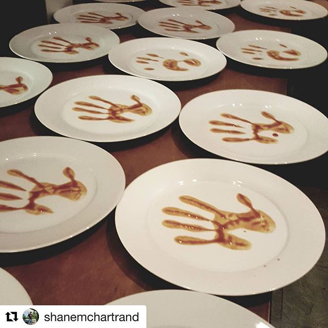 Incredible opening night dinner for #chefmeetsbcgrape last night! Check out this food prep photo, courtesy of @shanemchartrand who prepared the  Fire course for our Elements dinner. He called it Warpaint. Inspired indigenous food from all our chefs! . . . #repost #osoyoos #nkmipcellars #bcwine #okanaganwineevents #indigenousfood #indigenouswinery