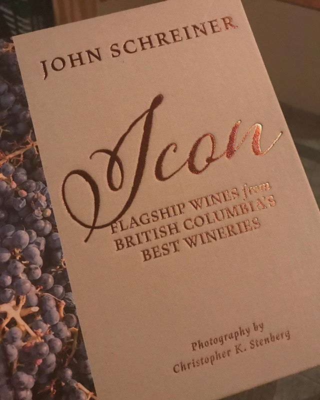 Make sure you get your hands on a copy of John Schreiner's ICON book on #bcwine's best #wineries 🍷📚